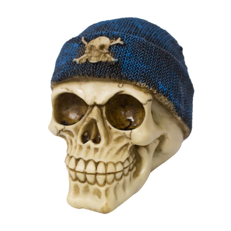 Caveira com Touca Crânio Decorativo Resinado 1218385f899
