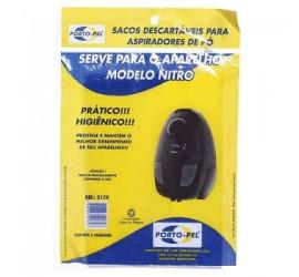 Kit 3 Sacos Descartável Para Aspirador de Pó Arno Nitro Ref: 2174