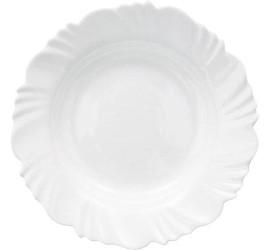 Prato Fundo Opaline Pétala branco Duralex