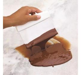 Espátula Raspador Inox de Chocolate e Massas Gourmet