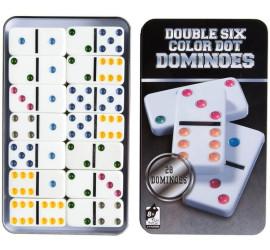 Jogo De Dominó Double Six Color Dot Dominoes 28 Peças