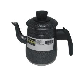 Bule De Alumínio Craqueado Preto N°1 Para Café ou Chá - Prolar