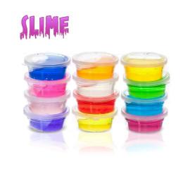 Kit 12 Slime Crystal Magic Amoeba Meleca Colorida Massinha