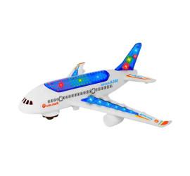 Brinquedo Avião A380 C/ Luz Som Divertido Rodinha Crianças