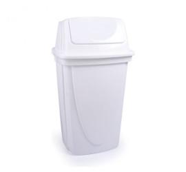 Lixeira Basculante 9 Litros Branco -Plasútil