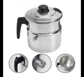 Leiteira 1 Litro Com Apito Alumínio Casa Leite Cozinha Chá - Prolar