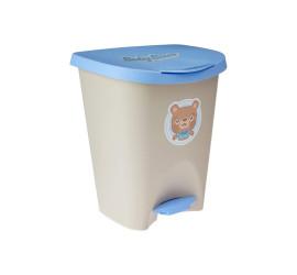 Lixeira com Pedal Infantil Urso Baby 7,5 Litros de Plastico