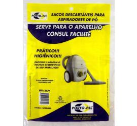 Pacote com 3 Sacos descartáveis para Aspirador de pó Consul Facilite