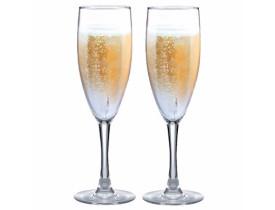Conjunto 2 Taças de Vidro Bourbon Ruvolo 150 ml para Champagne