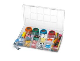Caixa Organizadora plástica com tampa 11 Divisórias Nitron 138