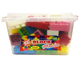 Blocos de montar Tamanho Big Block Mania 48 Peças