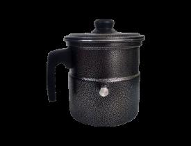 Leiteira com apito 2 litros em alumínio preta