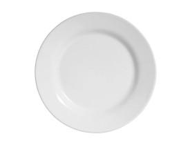 Prato De Melamina Sobremesa 20 Cm Branco 6 Peças