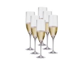 Jogo 6 Taças Champagne Bohemia Sitta Cristal 240ml
