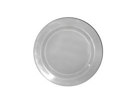 Prato Melamina Sobremesa Branco 18cm