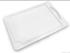 Tábua Multiuso Polipropileno Branca Para Carne 42x29 cm