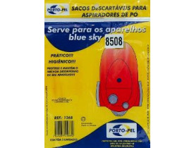 Sacos Descartáveis Para Aspiradores de Pó Modelo Blue Sky 8508