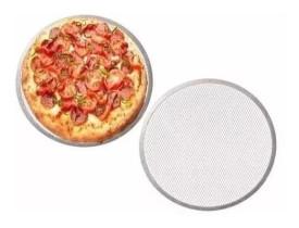 Tela para Assar Pizza de Alumínio 35cm