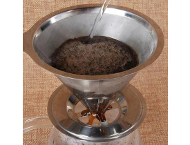 Mini Filtro De Café Permanente Aço Inox 2 Xicaras / Ke home
