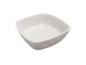 Kit 5 Peças Mini Travessa Quadrada Porcelana 55Ml