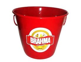 Balde de Gelo de Metal 5,5 Litros com adesivo da Brahma ou da Skol