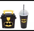 Kit Lancheira mini Box 1 Litro e Copo 500ml decorado Batman