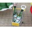Abridor de Garrafa Heineken e Mini Carrinho de Brinde
