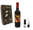 Kit para Vinho 3 Pçs Saca Rolhas / Decantador / Bomba de Ar