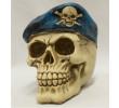 Caveira com Boina Cranio Decorativo Resinado D0244