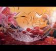 Tigela Saladeira de Vidro Redonda 21cm Decorada