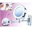 Espelho Articulado de Parede com Luz LED com Aumento 5x