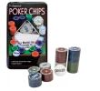 Jogo Profissional De Poker Chips com 100 fichas e Dealer