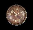 Relógio de Parede Clock Estampa de Madeira Marron