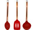 Kit Com 3 Utensílios de Cozinha Silicone Rose Gold